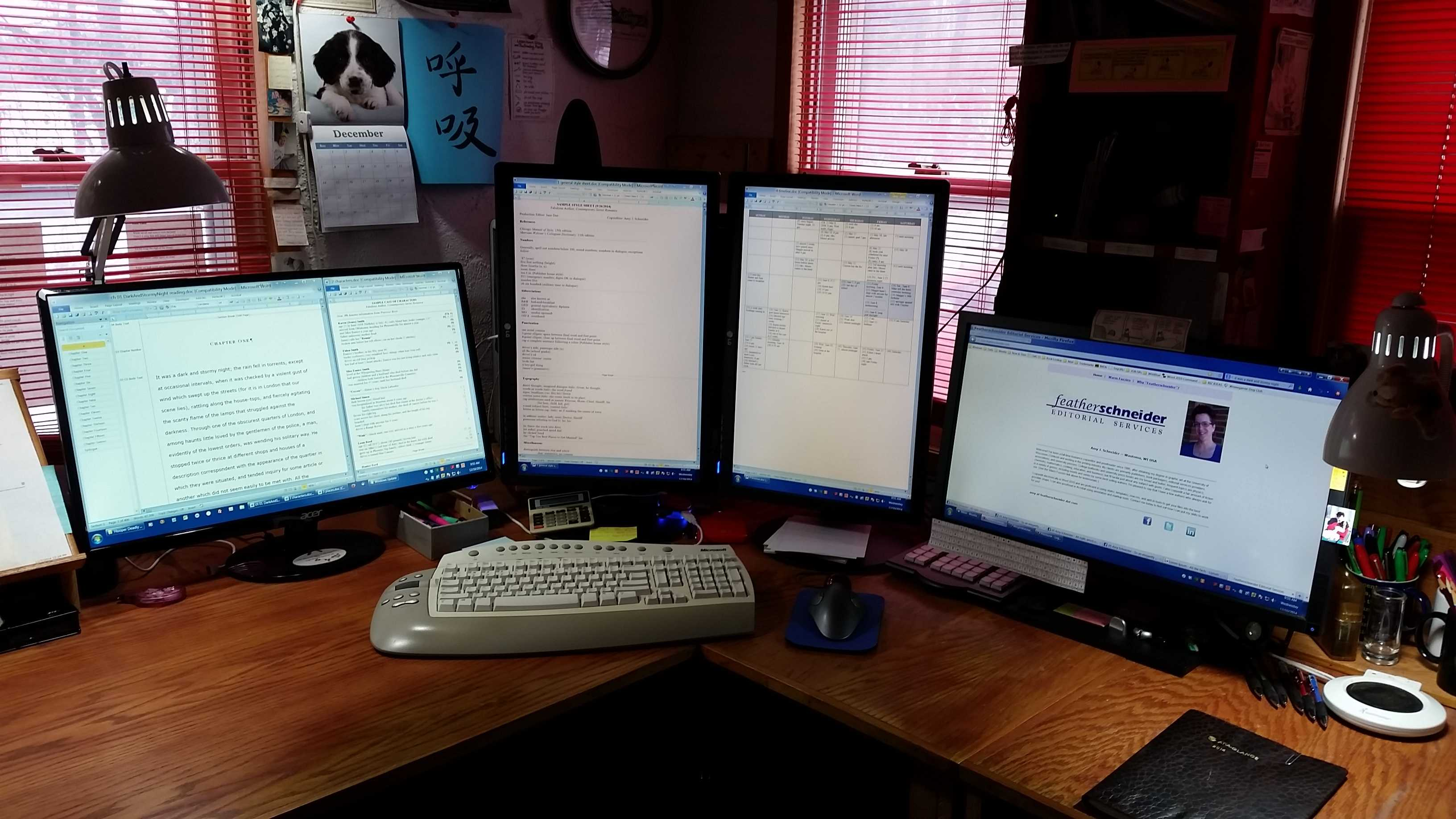 multiple monitors an american editor. Black Bedroom Furniture Sets. Home Design Ideas