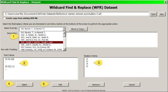 Wildcard Dataset Dialog