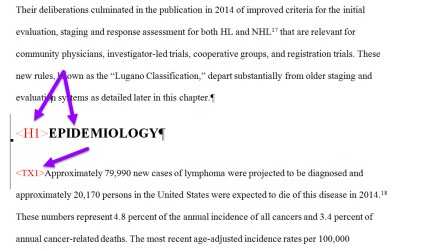 Manuscript with coding applied