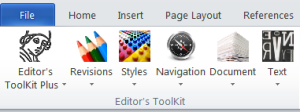 Editors ToolKit Menu