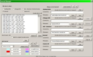 Journals Manager Enhanced Screen