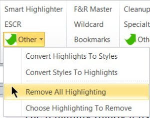 Remove All Highlighting