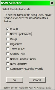 Never Spell Word Selector