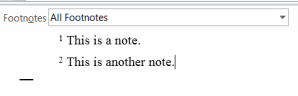 """Word's """"Notes Pane"""""""