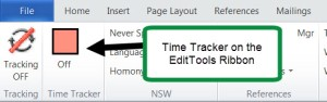 Time Tracker on EditTools Ribbon