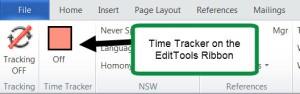 Time Tracker on EditTools Ribbon